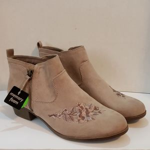 Faux suede ankle boots size 11 NWT